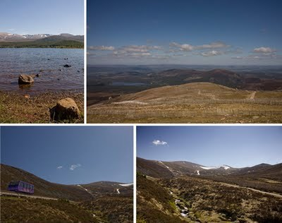 Cairngorm mountain range in Scotland