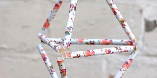 Geometric Himmeli Floral Decorations