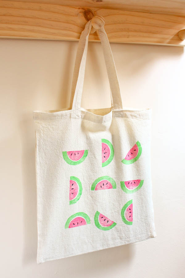 DIY Watermelon Print Bag Tutorial