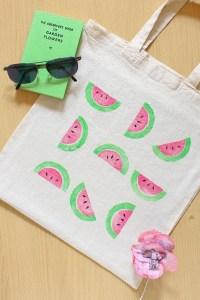 DIY Watermelon Print Bag Tutorial