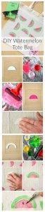 Watermelon Print Bag DIY Tutorial