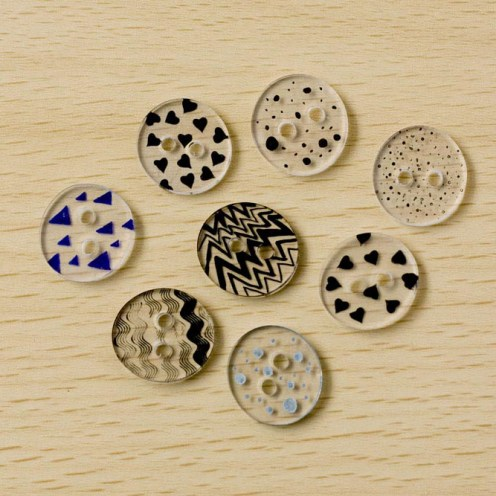 Shrink Plastic Buttons