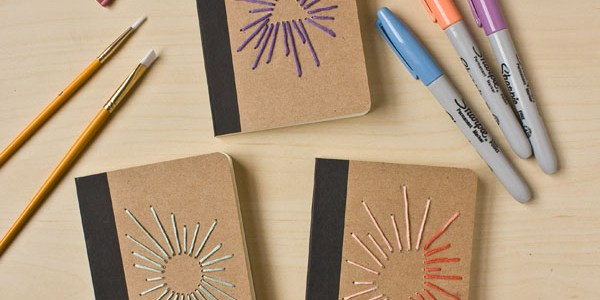 Sunburst Embroidered Notebook