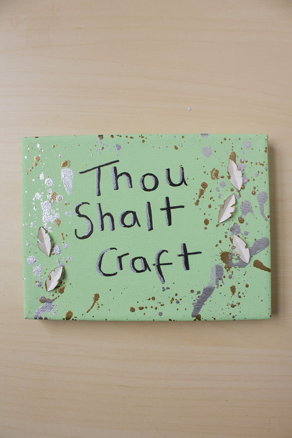 Shakespeare quote craft DIY