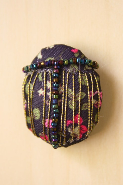 Textile Fabric Bug Brooch DIY Tutorial