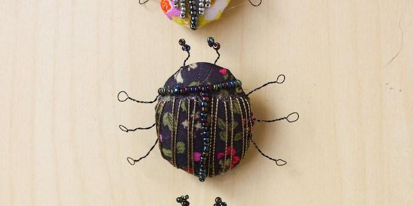Textile Bug Brooch DIY