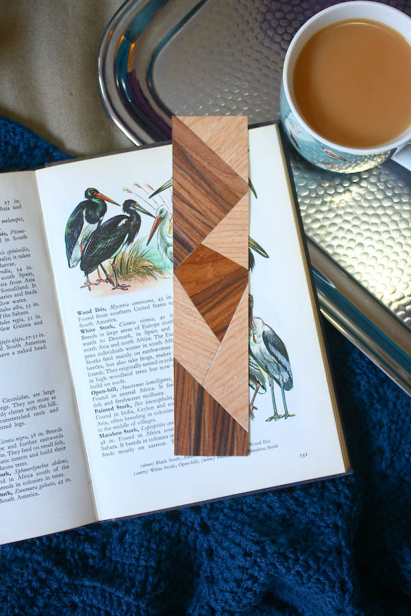 Faux Marquetry Wood Bookmark DIY