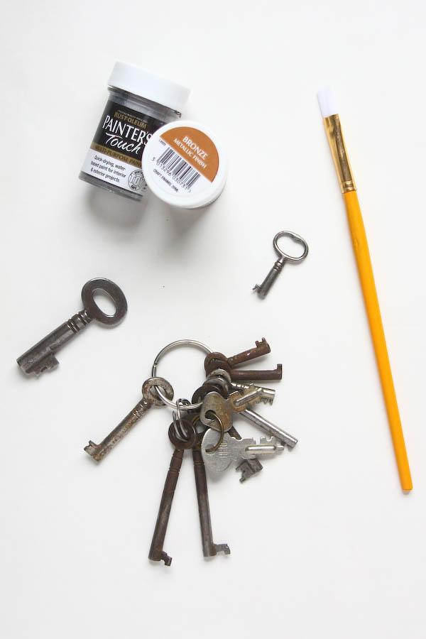 Upcycled Key Keyring DIY