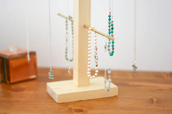 Wood and Brass Jewellery Holder DIY