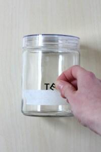 Painted Kitchen Storage Jar DIY
