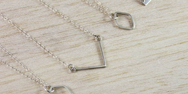 New Geometric Silver Jewellery Range