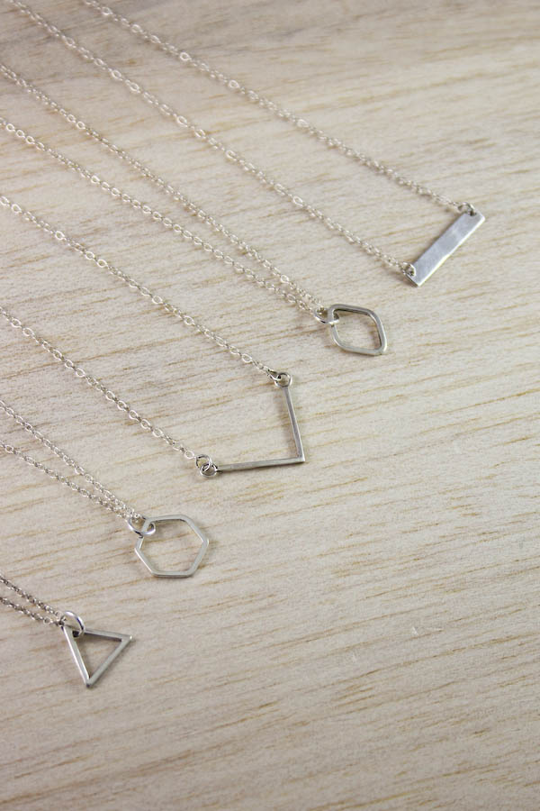 Geometric Silver Jewellery by Make and Fable