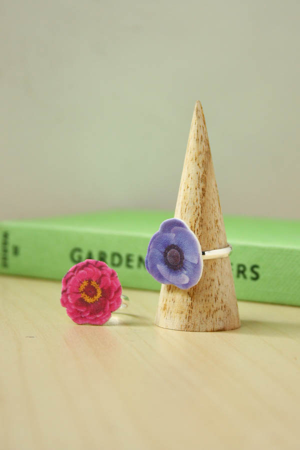 Shrink Plastic Flower Ring DIY