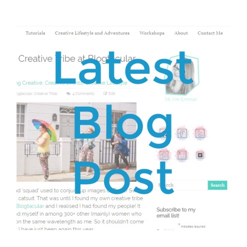 Latest BLog Post from Make and Fable