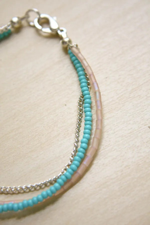 Summer Seed Bead Bracelet DIY Tutorial by Make and Fable