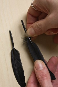 DIY Halloween Feather Earrings Tutorial by Make and Fable