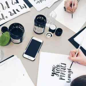 Brush lettering The Lovely Drawer