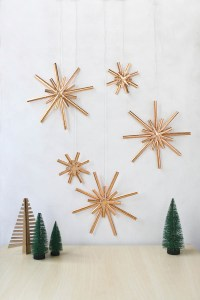 Paper Straw Star Decorations DIY Tutorial by Make and Fable