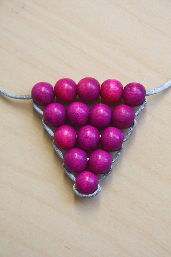 DIY Triangle Necklace Tutorial by Make and Fable