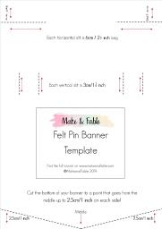 DIY Felt Pin Banner Template from Make and Fable