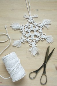 Macrame Snowflake DIY Tutorial by Make and Fable