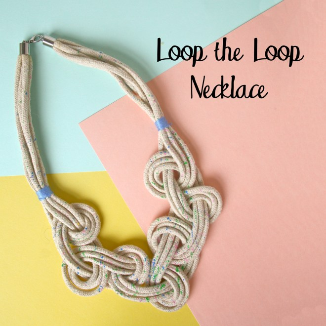 Loop the Loop Macrame Necklace Tutorial