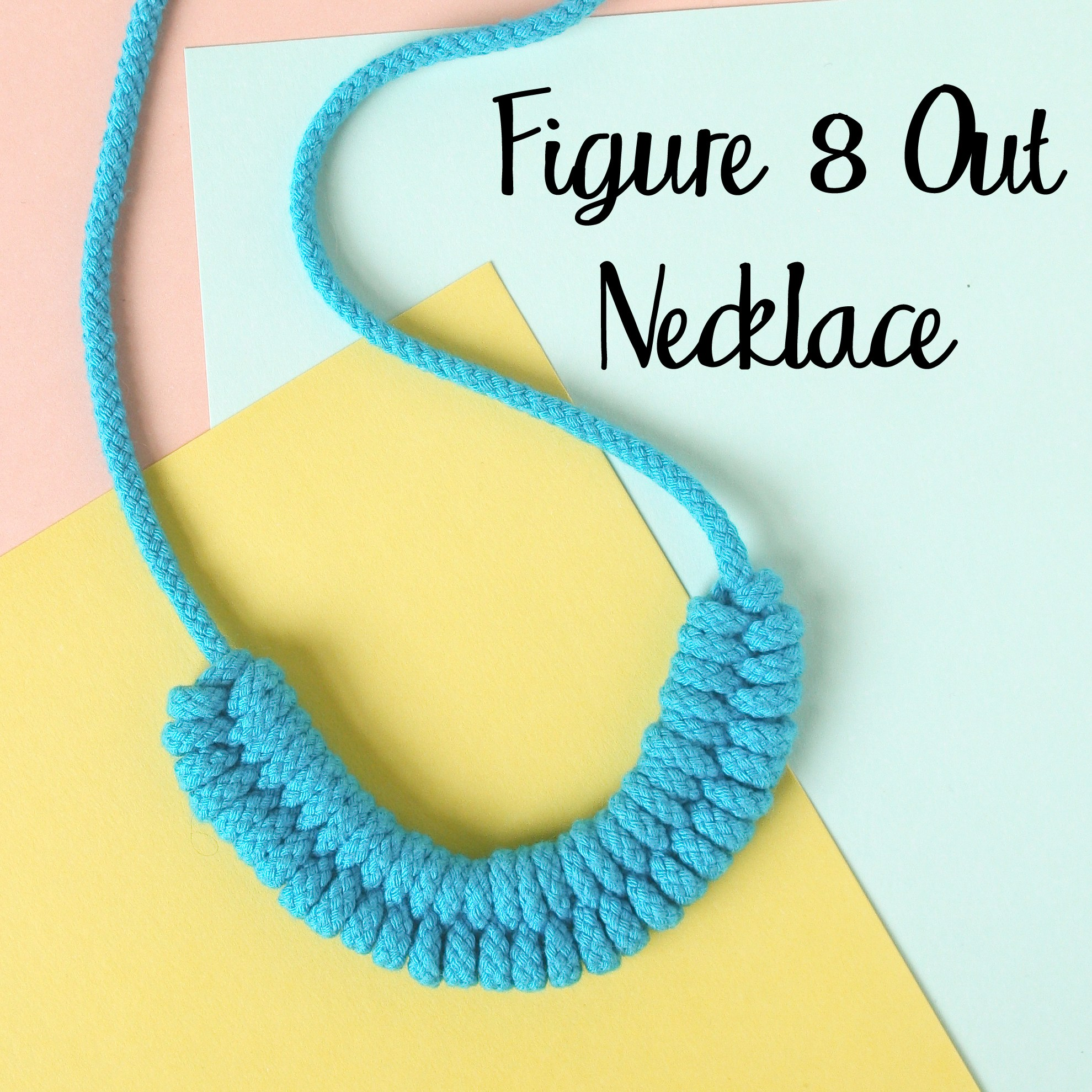 Figure 8 out Woven Necklace DIY