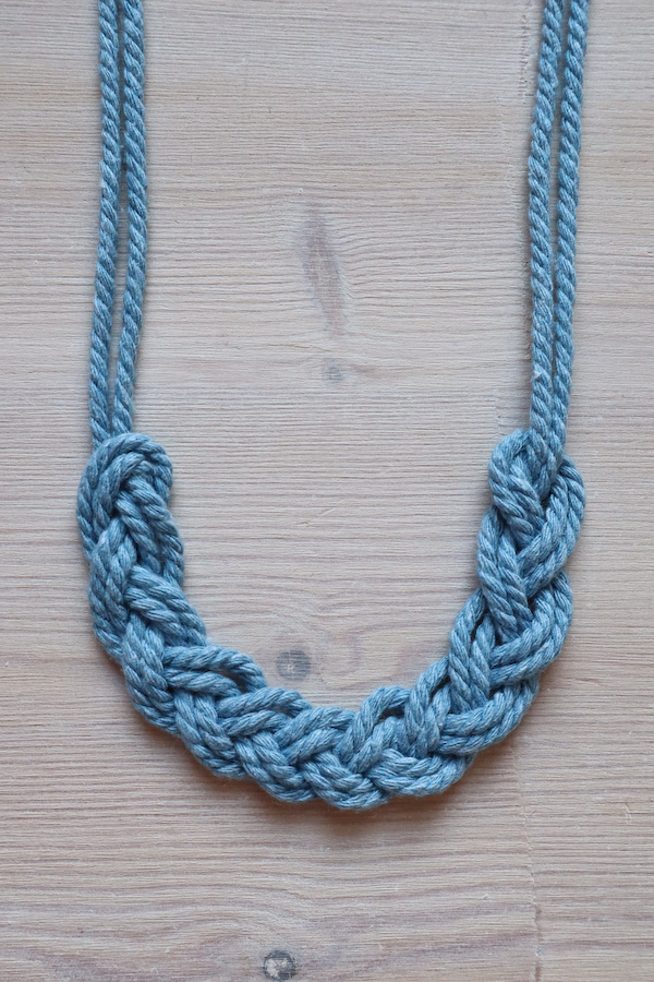 Macrame Braid Necklace Tutorial by Make and Fable 12