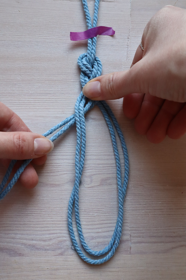 Macrame Braid Necklace Tutorial by Make and Fable 6
