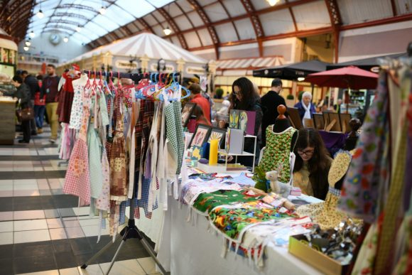 Britt Coxon Art and Design and Amazing Apron Co - Make & Mend Market in the Grainger Market Photograph by Holly Wheeler 2018