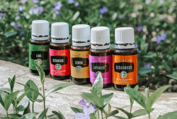 bottles-of-essential-oils-for-summer-in-the-woods