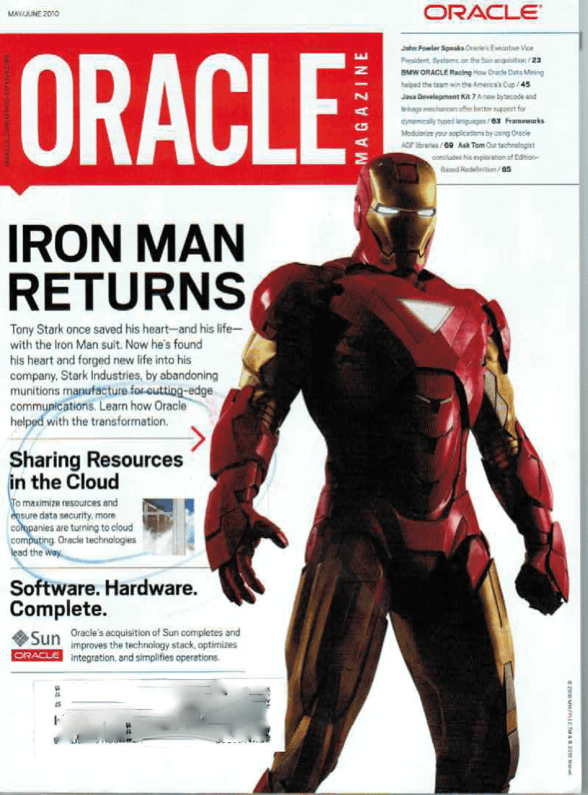 Oracle Magazine Cover