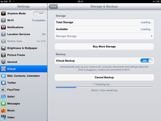 Backup to iCloud Before Downloading iOS 6