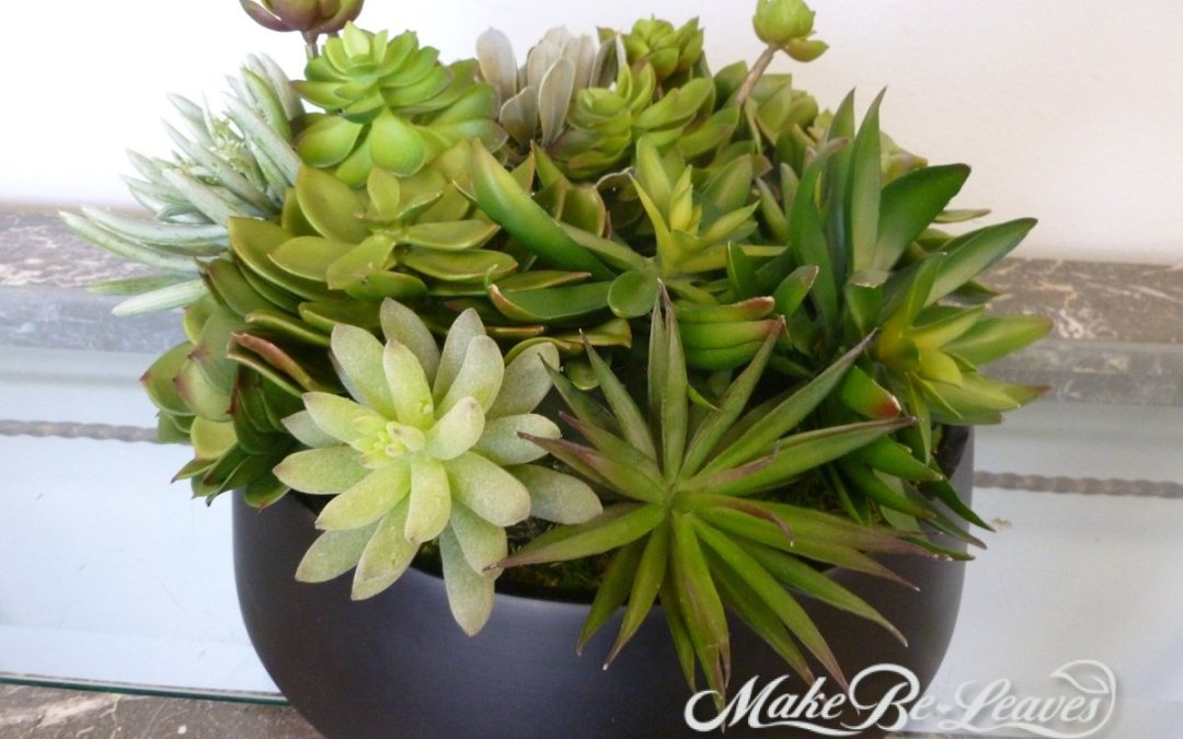 faux succulents by make be-leaves