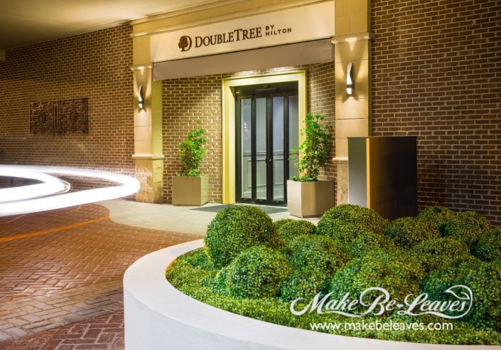 Makebeleaves artificial uv boxwood garden for fountain