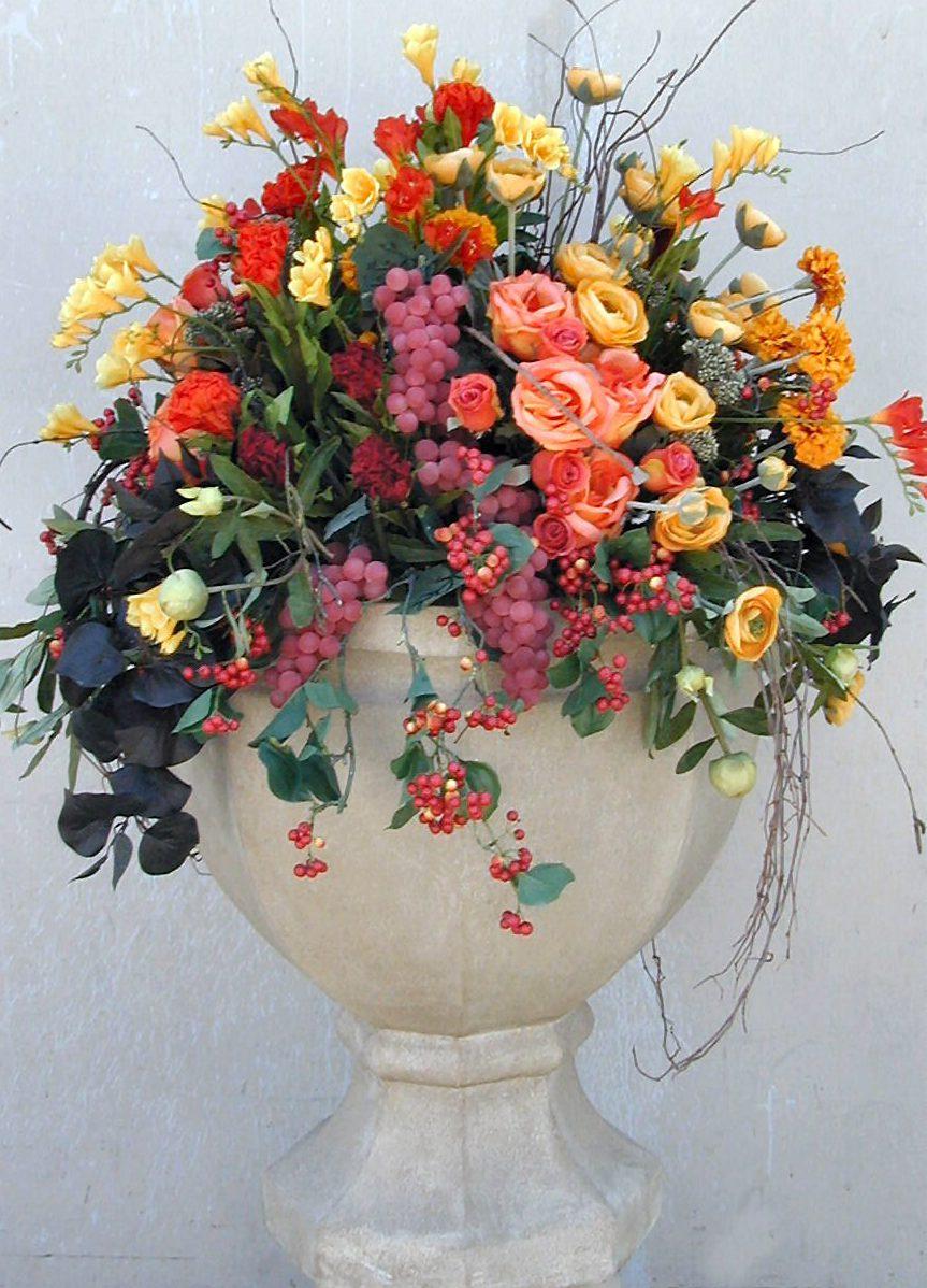Tropical Silk Flower Arrangements
