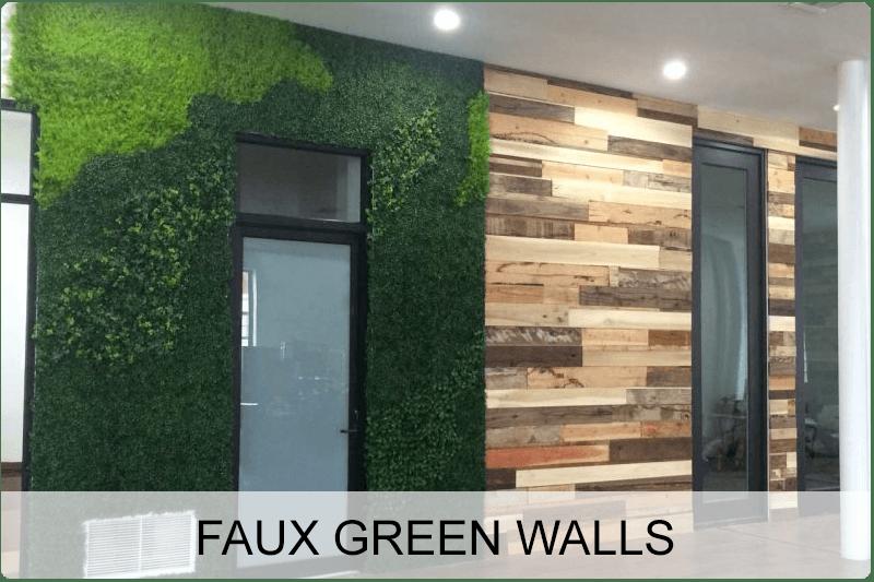 Faux Green Walls