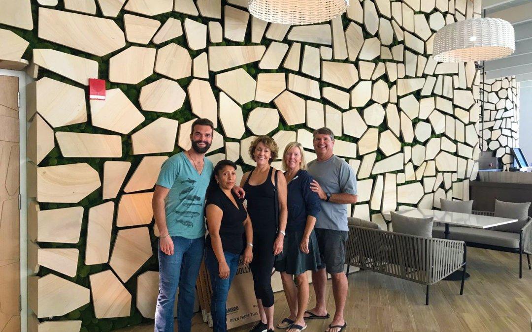 Green Moss Wall for SLS Resort in Nassau, Bahamas