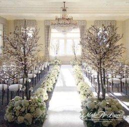 faux white cherry blossom trees