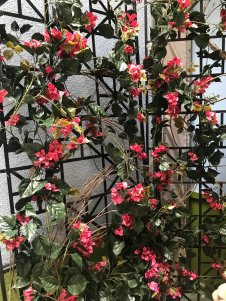 faux uv flowering trellis