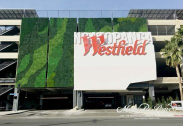 Greenwall planting Westfields
