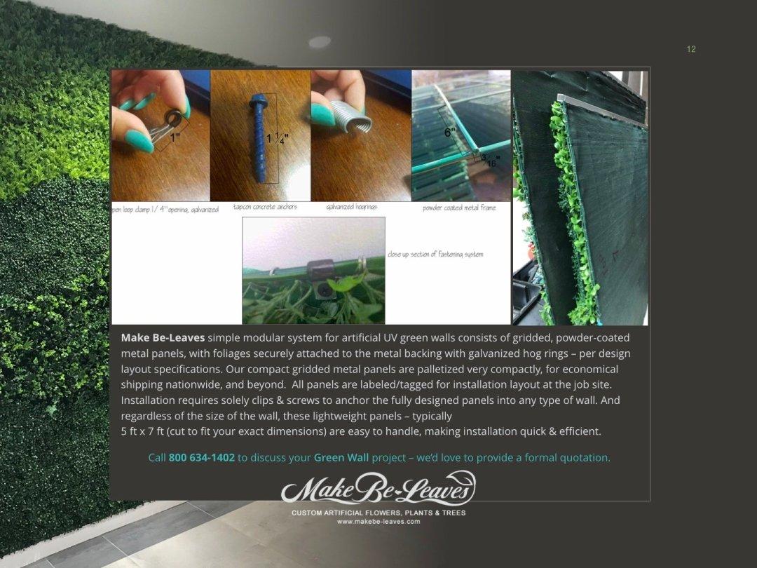 Artificial Green Wall Custom Crafted UV Modular Panels