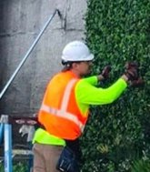 artificial UV green wall installation by Make Be-Leaves
