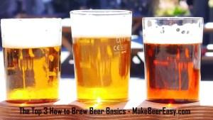 flight of 3 craft beers
