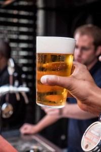 a clear home brew blonde ale