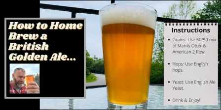 Instructons on how to home brew a British golden ale