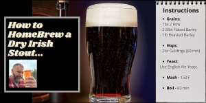 Instructions for how to homebrew a dry Irish stout