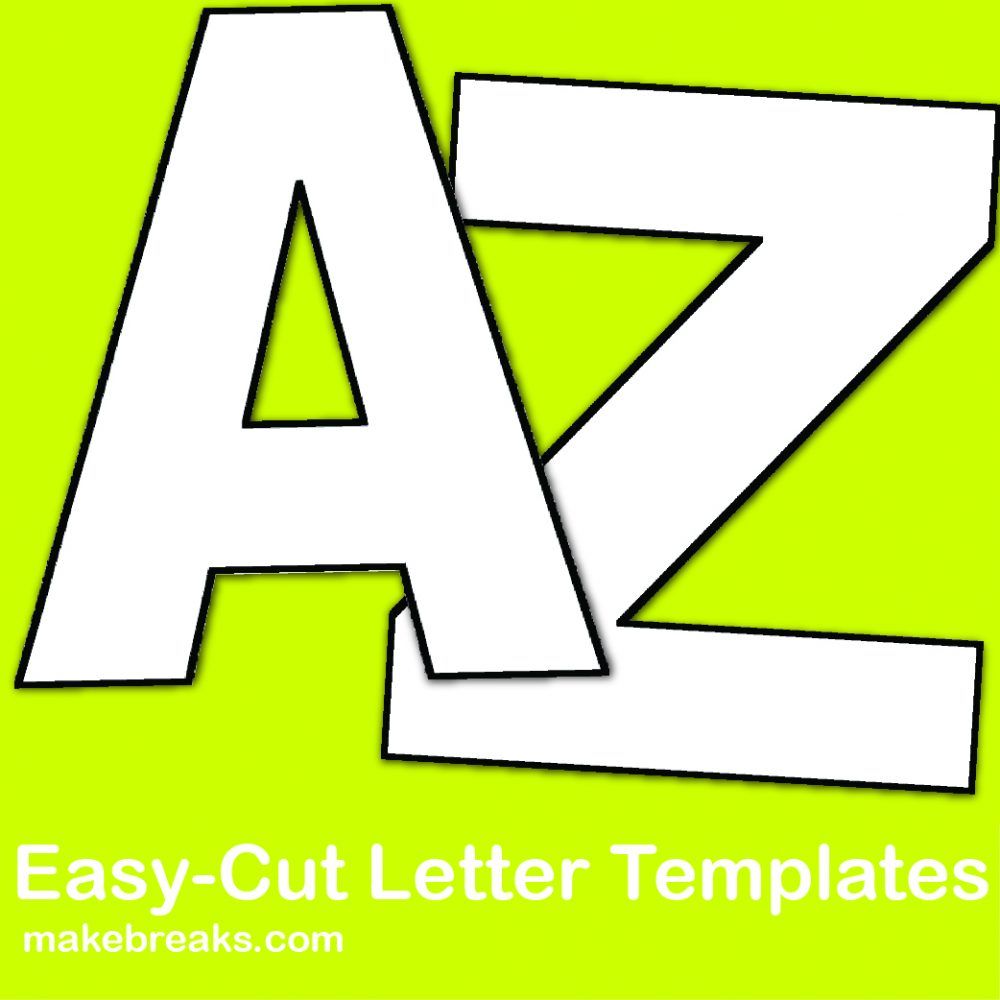 photograph about Printable Cut Out Letters Alphabet called No cost Alphabet Letter Templates in direction of Print and Minimize Out - Generate