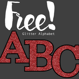 Free Printable Red Glitter Alphabet