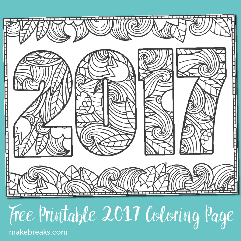 Another Free 2017 Coloring Page